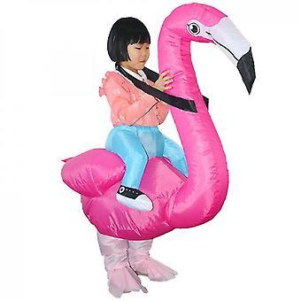 Flamingo kerstkostuum volwassen kind cosplay partij (kind)