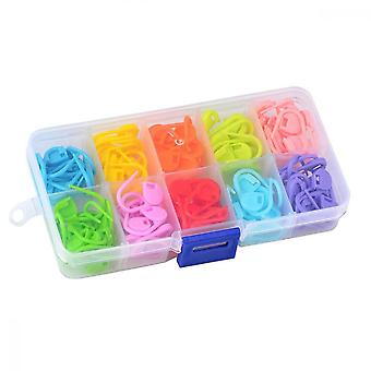 Locking Stitch, 120 Pcs Knitting Markers Crochet Clips(10 Colors)