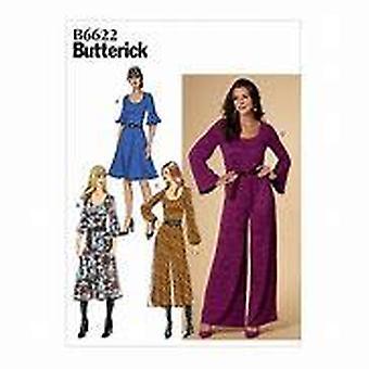 Butterick ompelu kuvio 6622 Misses Naisten mekko ja haalari Koko 14-22 Leikkaamaton