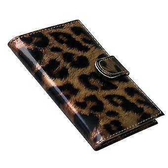 Paspoortkoffer, Leopard-Brown