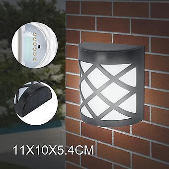 4PCS LED SOLAR FENCE & WALL LIGHTS GARDEN SECURITY OUTDOOR STYLISH UK