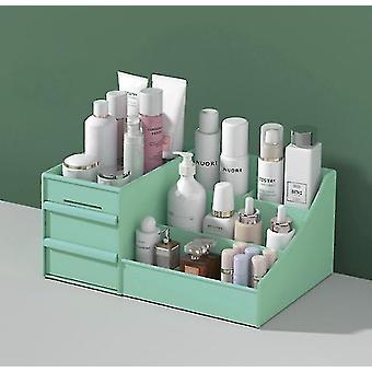 Kosmetiikka säilytyslaatikko laatikko tyyppi muovinen säilytysteline (vihreä)