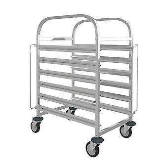 Plateau à pain en acier inoxydable Rack Bun Pan Rack avec roues