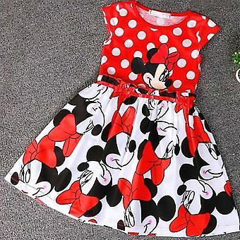 Dress Cartoon Print Minnie Dress Baby Costume Princess Christmas Party