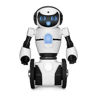 Robô RC WLtoys F4 WIFI Câmera Inteligente Evitar RC Robô com brinquedos brinquedos Gifs Robô (Branco)