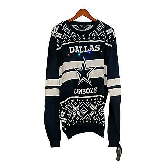 NFL Homme LA Rams Pull LED Lighted Ugly Pullover Bleu A371650
