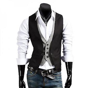 Männer Slim Fit Weste Smoking Kleid Anzug Weste Formal Jacke Mantel