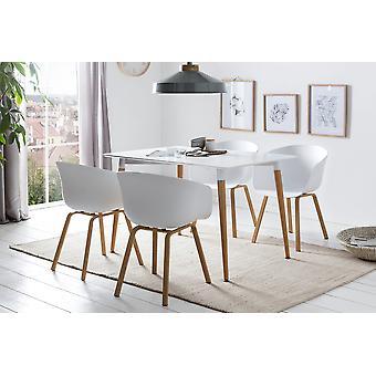 Tomasso's Como Dining Table - Modern - White - Mdf - 0 cm x 0 cm x 0 cm