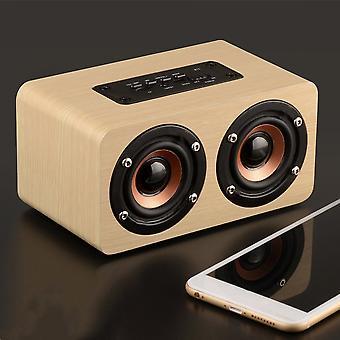 W5 High Definition Double Trumpets Loudspeaker Wood Bluetooth Loudspeaker