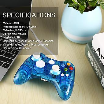 Usb Wired Game Controller For Xbox 360 Joypad Gamepad Joystick With Led Light