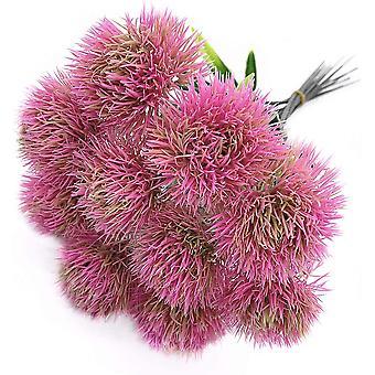 10 יח' שן הארי פרחים מלאכותיים צמחים זר פרח פלסטיק לקישוט הבית / עיצוב חתונה (ירוק)