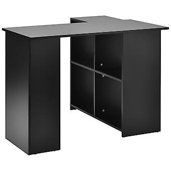 Bureau L-ordinateur avec grand espace de stockage