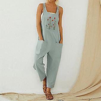 kvinners sommer jeans lomme overalls uformelle bukser uformell slitasje