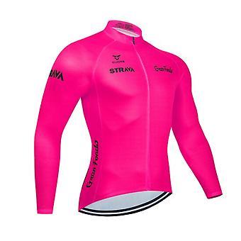 Homme Manches Courtes Respirant Quick Dry Cyclisme Jersey Rayures Vélo Jersey Top Mountain Bike VTT Vêtements de Sport