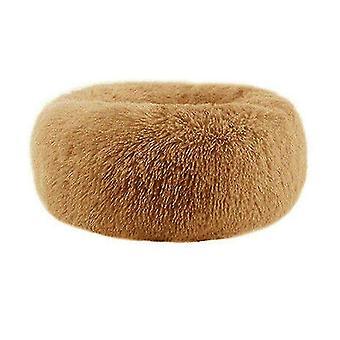 Lemmikki sänky ruskea pestävä rauhoittava mukava donitsi tyyli pehma lemmikkikissa 5xl-120cm tai koiran sänky