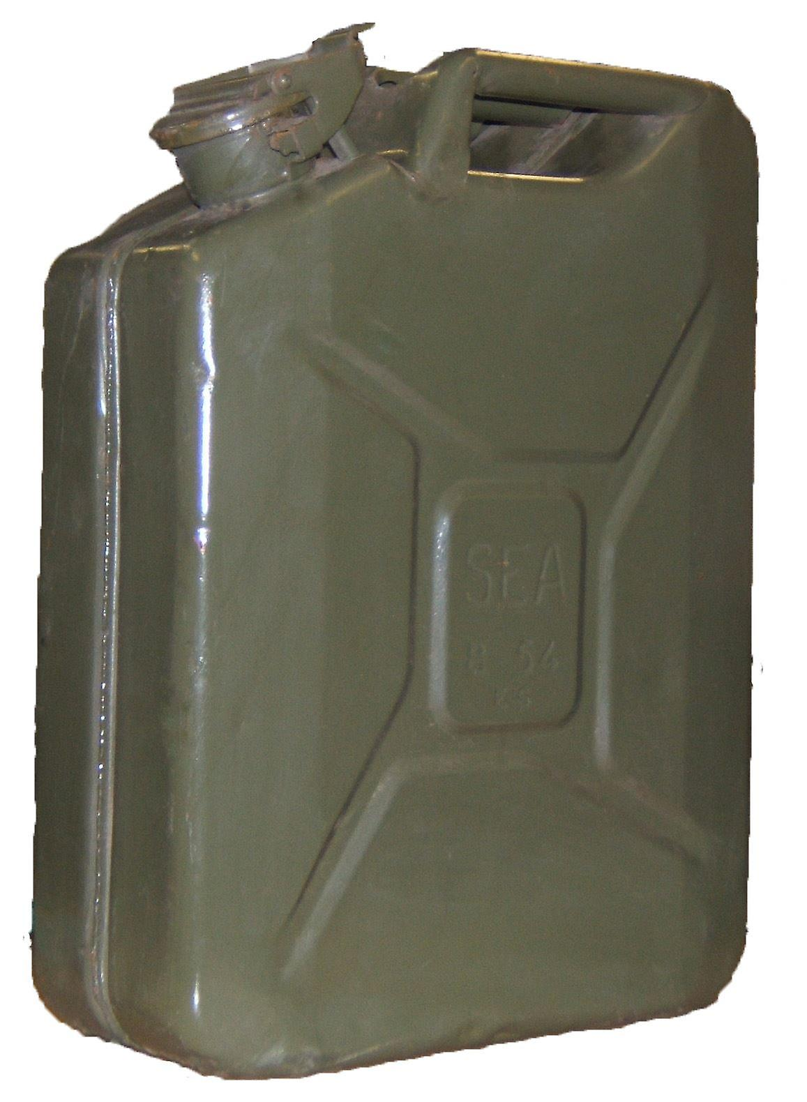 Vintage Military Jerry Can 20L Petrol Storage