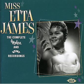 Etta James - Etta James: Importazione USA registrazioni Complete di moderni & Kent [CD]
