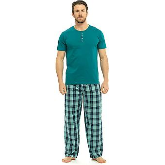 Lobo & Harte Mens algodão manga curta pijama Top Lounge do desgaste
