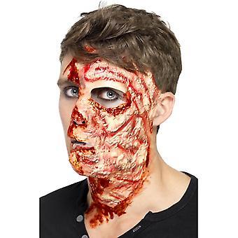 Spálená tvář maska Halloween popálená tvář dekorace