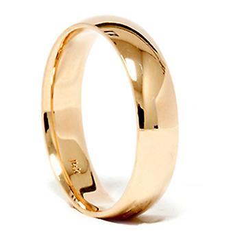 Hoog gepolijst klassieke trouwring 14K geel goud