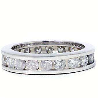 2ct Channel Set Diamond Eternity Ring 14K White Gold