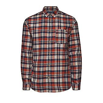 Jack and Jones Castleford One Red Casual Shirt