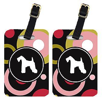 Carolines Treasures  KJ1042BT Pair of 2 Kerry Blue Terrier Luggage Tags