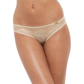 Gossard 13003 Women's Glossies Lace Nude Knickers Panty Full Brief