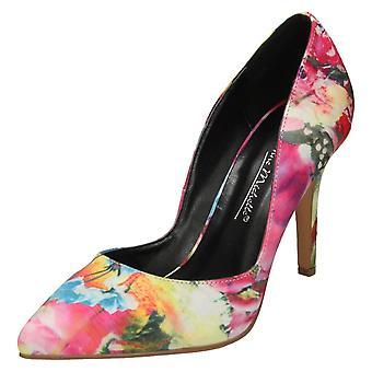 Dames Anne Michelle wees teen Hof schoenen - roze Multi Textile - UK maat 4 - EU grootte 37 - US maat 6