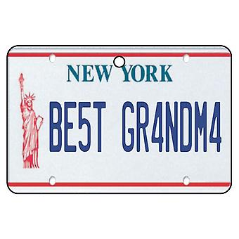 New York - Best Grandma License Plate Car Air Freshener
