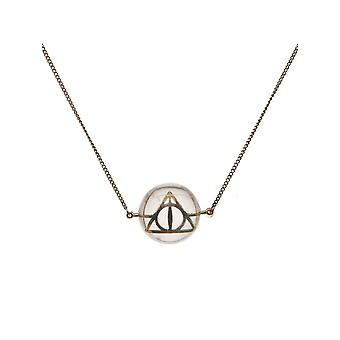 Harry Potter Necklace Deathly Hallows Symbol in Acrylic Bubble new Official