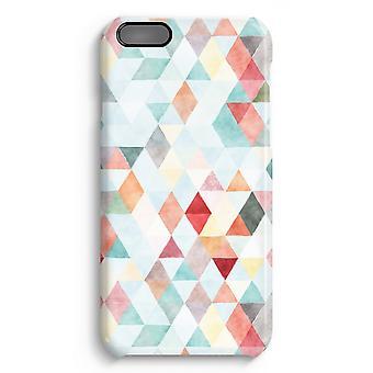 iPhone 6 Plus Full Print Fall (glänzend) - farbige Dreiecke Pastell
