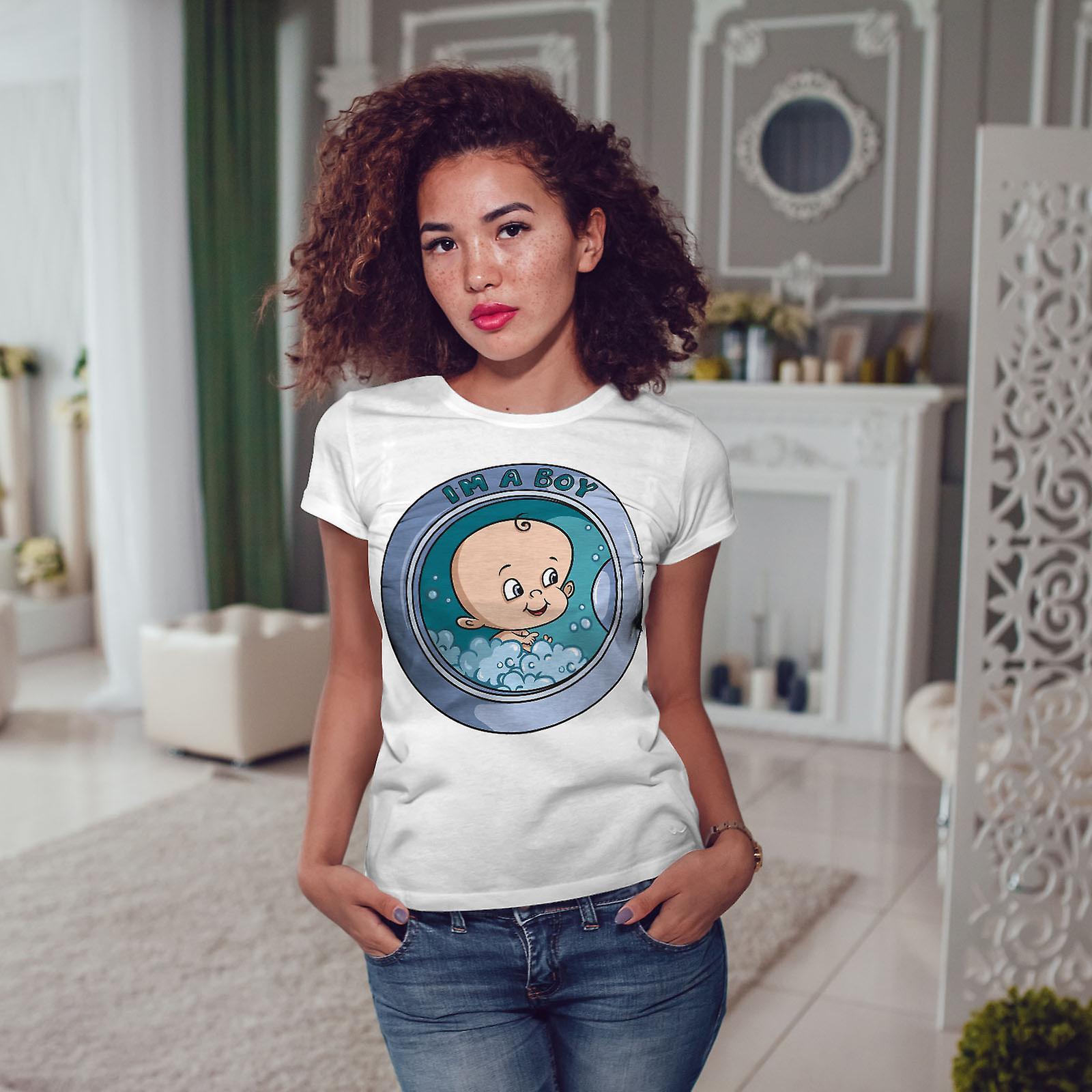 Ses un garçon WhiteT-shirt de femme | Wellcoda