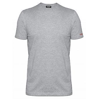 DSQUARED2 Underwear Slim Fit Light Grey Crew Neck T-Shirt