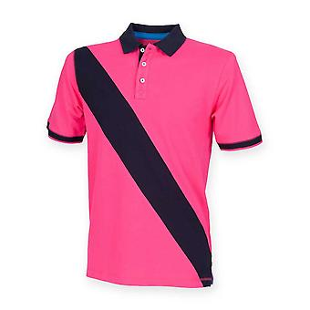 Front Row Mens Diagonal Stripe House Polo Shirt