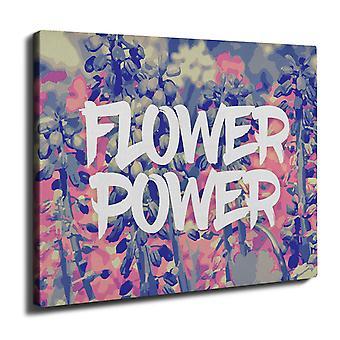 Flower Field Wall Art Canvas 40cm x 30cm | Wellcoda