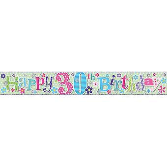 Simon Elvin Female Happy Birthday 2.5m Foil Banner