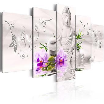 Wandbild - White Buddha