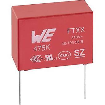 Würth Elektronik criptográficos-FTXX 890334023024CS 1 computador (es) X2 supressão capacitor chumbo Radial nF 310 120 V AC 10% 10 mm (L x W x H) 13 x 7 x 13 mm