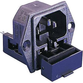 Bulgin PF0030/28 التوصيل IEC PF Plug، جبل عمودي إجمالي عدد الدبابيس: 2 + PE 10 A أسود 1 pc(s)