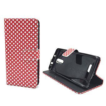 Matkapuhelin tapauksessa pussi mobiili Xiaomi Redmi Huomautus 3 pilkullinen punainen