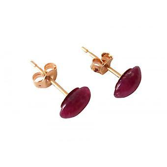 Ruby øreringe Ruby øre studs IRIS Guld belagte øreringe
