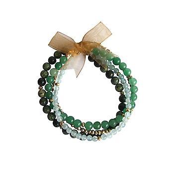 Pulseira bracelete azul-marinho, pulseira jogo pedra preciosa Aventurine pirita serpentina