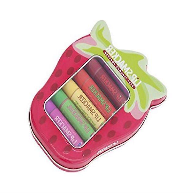 Lip Smacker Strawberry Tin ( 6 Pieces)