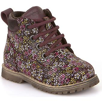 Froddo Girls G2110062-7 Lace Boots Purple Floral