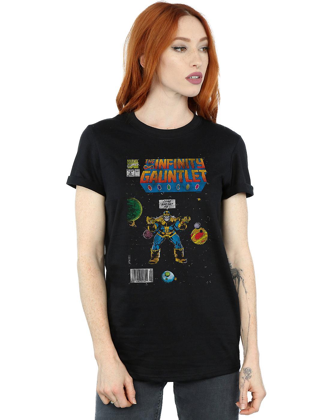 Marvel Comics Women's Infinity Gauntlet Boyfriend Fit T-Shirt