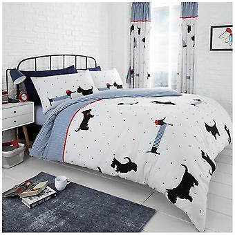 Peter Plys hunde 4 stykke animalske dyne Quilt dækning Polycotton sengetøj sæt pudebetræk