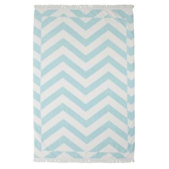 Zante Mint Chevron frędzlami ręcznik plażowy