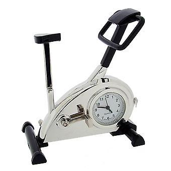 Lahja tuotteet kuntosali harjoitus Bike Mini kello - hopea/musta