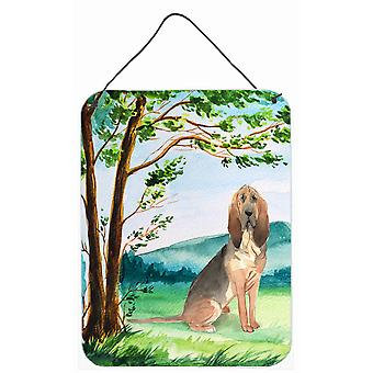 Under the Tree Bloodhound Wall or Door Hanging Prints